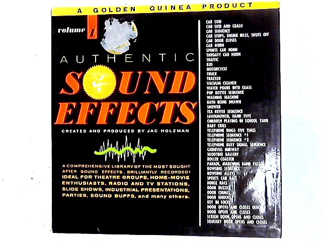 Authentic Sound Effects Volume 1 LP by Jac Holzman