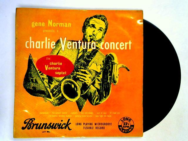 Gene Norman Presents A Charlie Ventura Concert LP by Charlie Ventura Septet