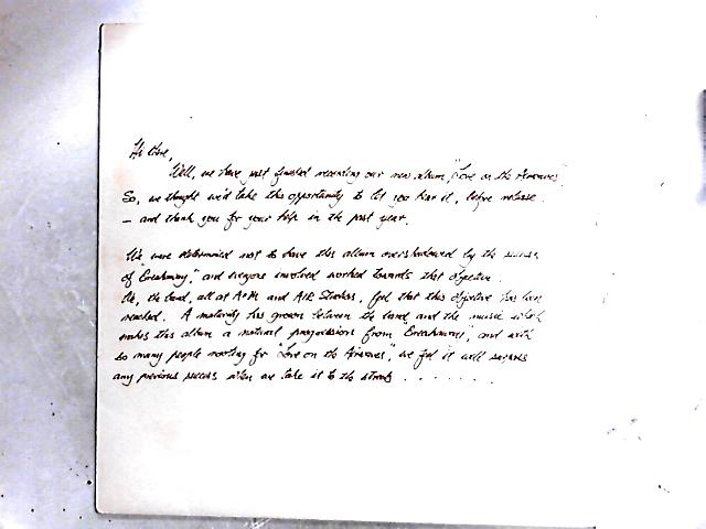 Love On The Airwaves Promo LP by Gallagher & Lyle