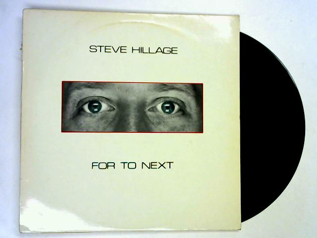For To Next LP 1st by Steve Hillage