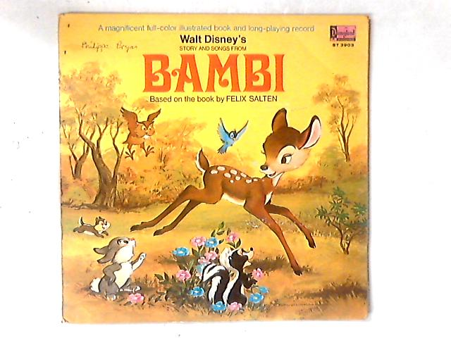 Walt Disney's Story And Songs From Bambi LP by Jimmie Dodd
