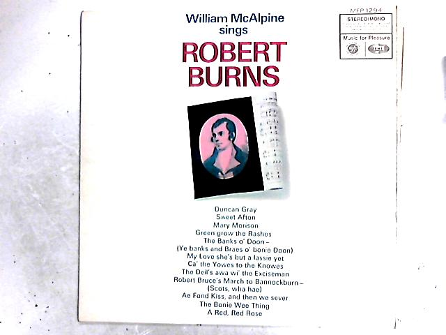 The Songs Of Robert Burns LP by William McAlpine
