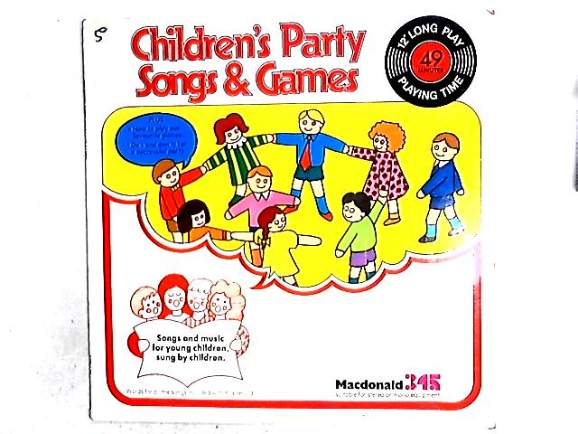 Children's Party Songs & Games LP By Children Accompanied By Eira Davies