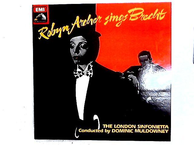 Robyn Archer Sings Brecht LP Gat By Robyn Archer