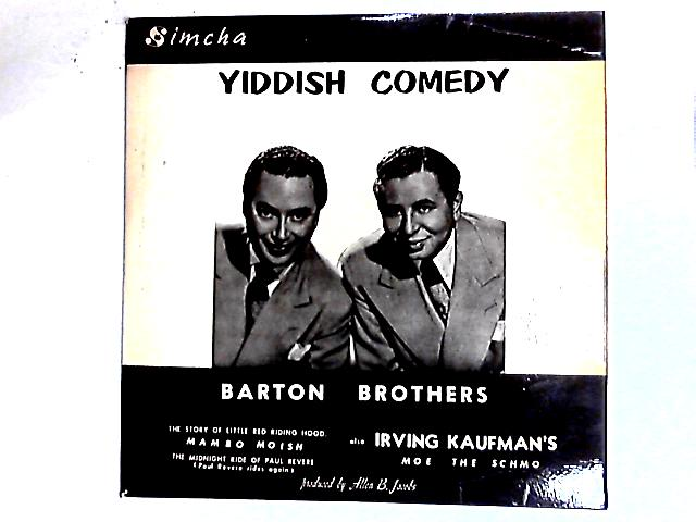 Yiddish Comedy LP By The Barton Brothers
