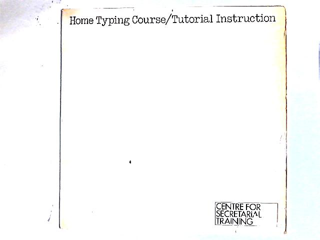Home Typing Course / Tutorial Instruction LP By Unknown Artist