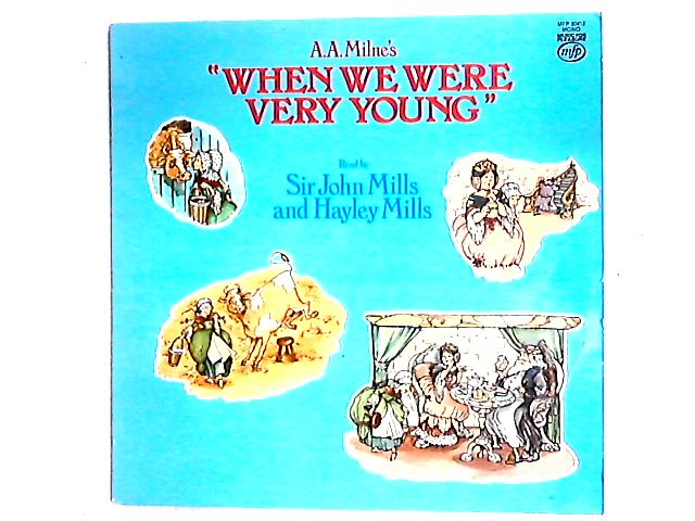 """A.A. Milne's """"When We Were Very Young"""" LP by John Mills"""