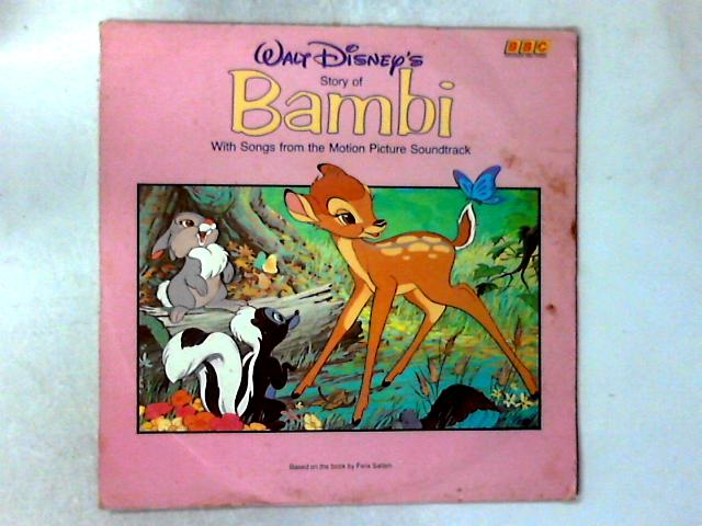 Walt Disney's Story And Songs From Bambi LP By Unknown Artist
