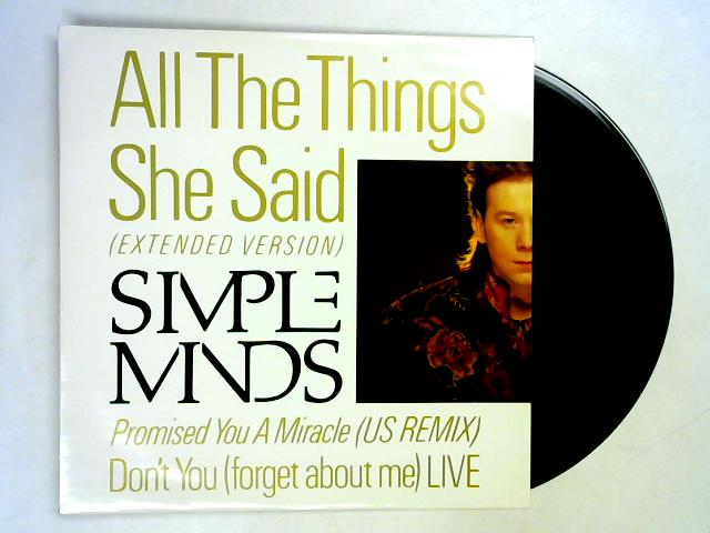 All The Things She Said (Ext.) 12in 1st By Simple Minds