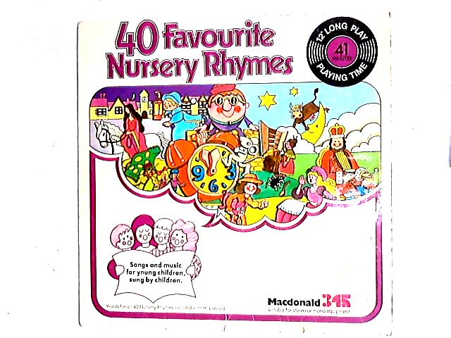 40 Favourite Nursery Rhymes LP By Children Accompanied By Eira Davies