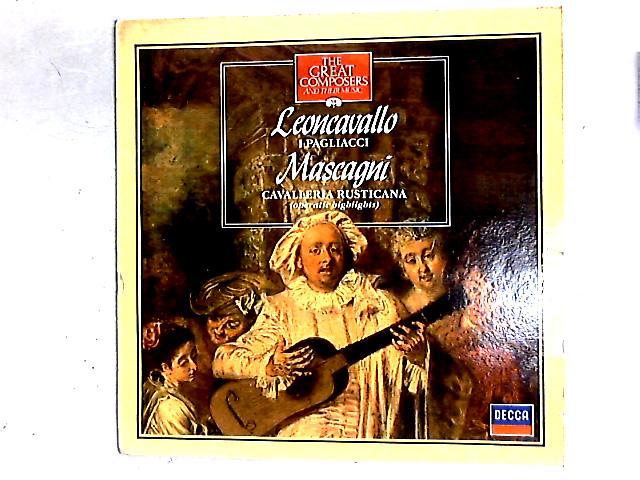 I Pagliacci / Cavalleria Rusticana (Operatic Highlights) LP By Ruggiero Leoncavallo