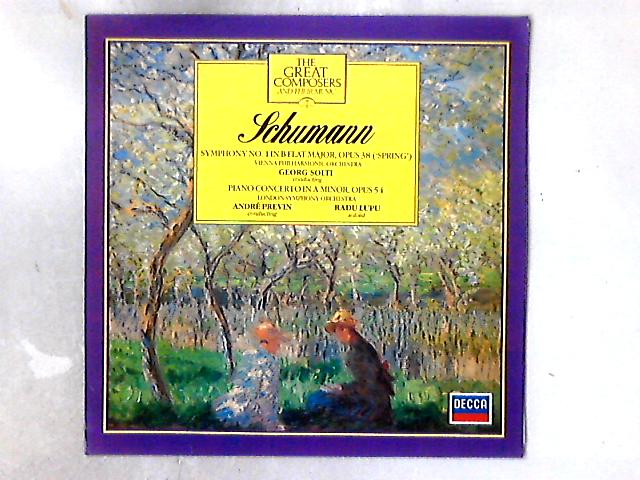 """Klavierkonzert A-moll Op. 54 / Symphonie Nr. 1 B-Dur Op. 38 (""""Frühlingssymphonie"""") LP By Robert Schumann"""