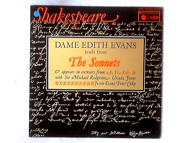Shakespeare: Dame Edith Evans Reads From The Sonnets LP By Edith Evans