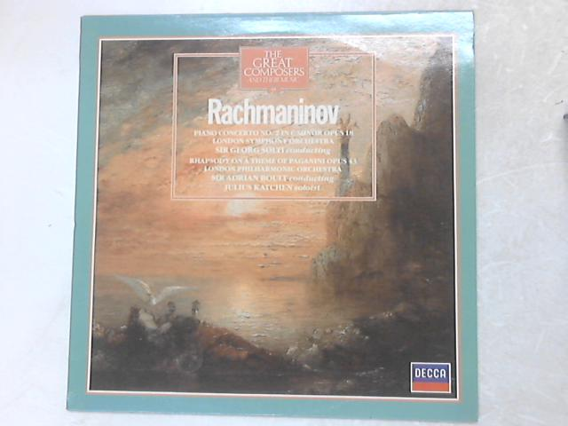 Piano Concerto No. 2 In C Minor Opus 18, Rhapsody On A Theme Of Paganini Opus 43 LP By Sergei Vasilyevich Rachmaninoff