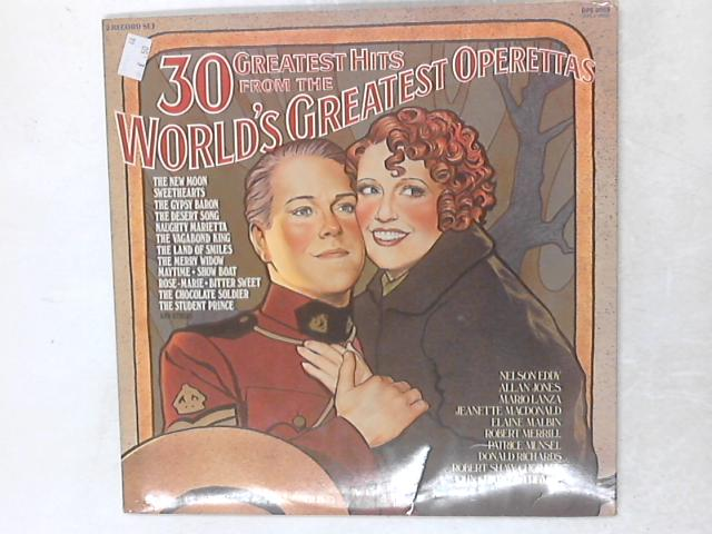 30 Greatest Hits From The World's Greatest Operettas, 2xLP Gatefold By Various