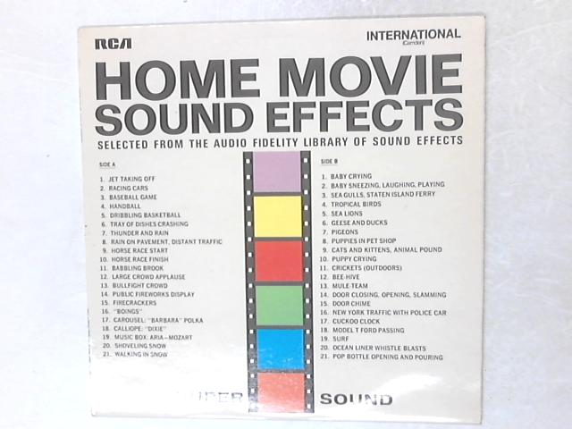 Home Movie Sound Effects LP By No Artist