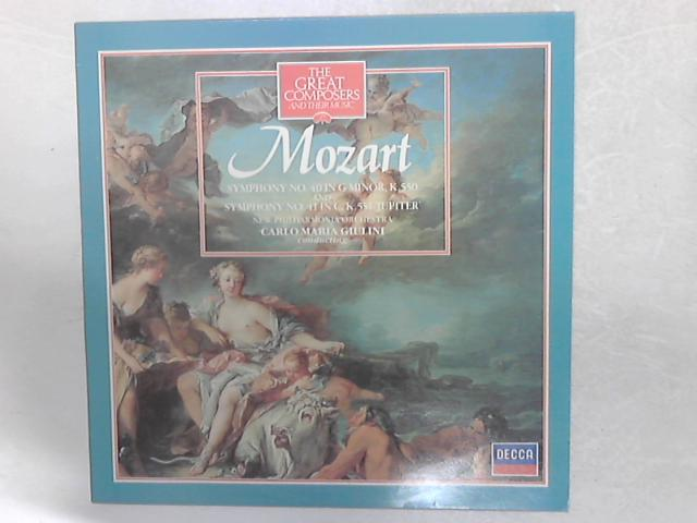 Symphony No. 40 In G Minor, K.550 And Symphony No. 41 In C, K.551 'Jupiter' LP By Wolfgang Amadeus Mozart