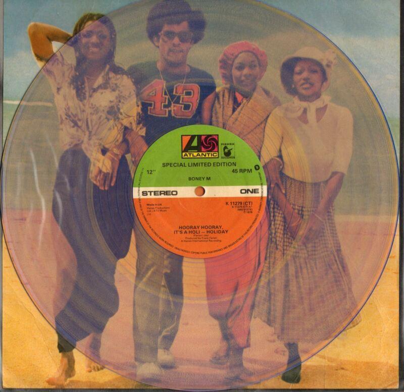Hooray Hooray, It's A Holi-Holiday 12in Yellow Vinyl Single By Boney M.