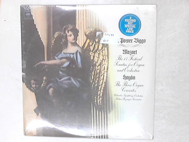 Mozart: The 17 Festival Sonatas / Haydn: The 3 Organ Concertos 2xLP Gatefold By E. Power Biggs