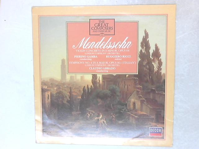 Violin Concerto In E Minor And Symphony No. 4 LP By Felix Mendelssohn-Bartholdy