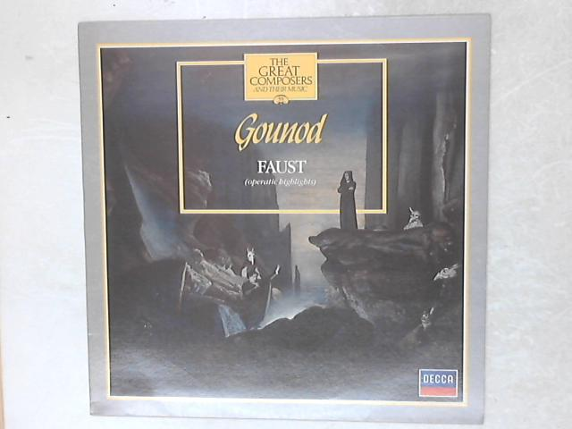 Faust (Operatic Highlights) LP By Charles Gounod