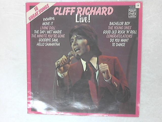 Live! LP By Cliff Richard