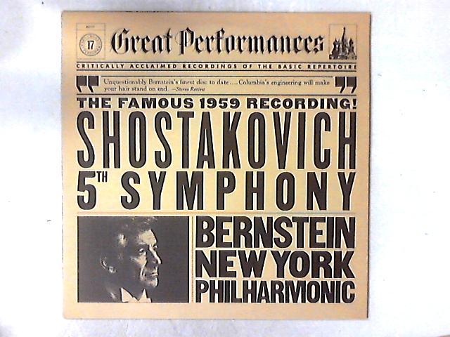 Shostakovich 5th Symphony LP by Dmitri Shostakovich