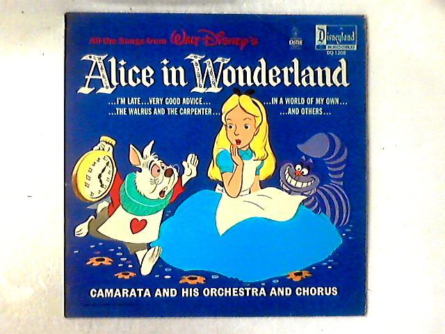 Walt Disney's Alice In Wonderland LP by Camarata Chorus And Orchestra