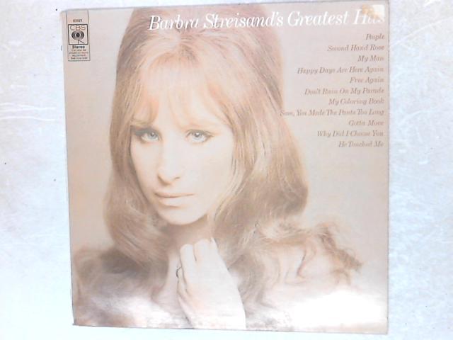 Barbra Streisand's Greatest Hits LP By Barbra Streisand