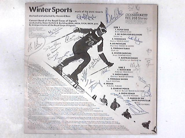 Winter Sports: Music Of The Snow Resorts LP SIGNED BY BAND MEMBERS By Concert Band Of The Royal Corps Of Signals