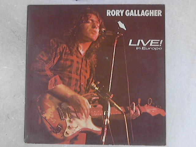 Live In Europe LP by Rory Gallagher
