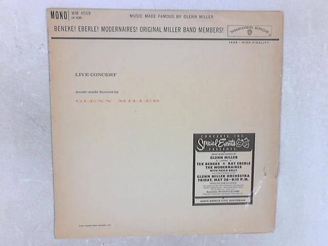 Live Concert - Music Made Famous By Glenn Miller LP By Various