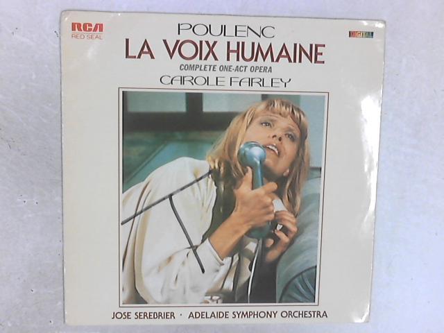 La Voix Humaine LP By Carole Farley