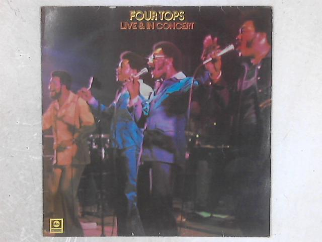 Live & In Concert LP By Four Tops