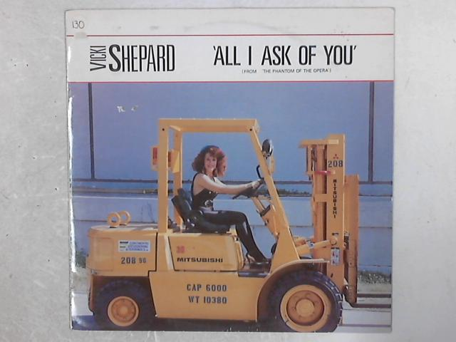 All I Ask Of You (From 'The Phantom Of The Opera') 12in Single By Vicki Shepard