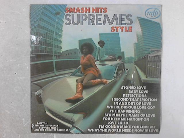 Smash Hits Supremes Style LP by Unknown Artist