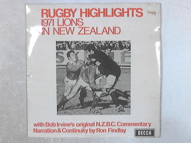 Rugby Highlights 1971 Lions In New Zealand LP by New Zealand Broadcasting Corporation