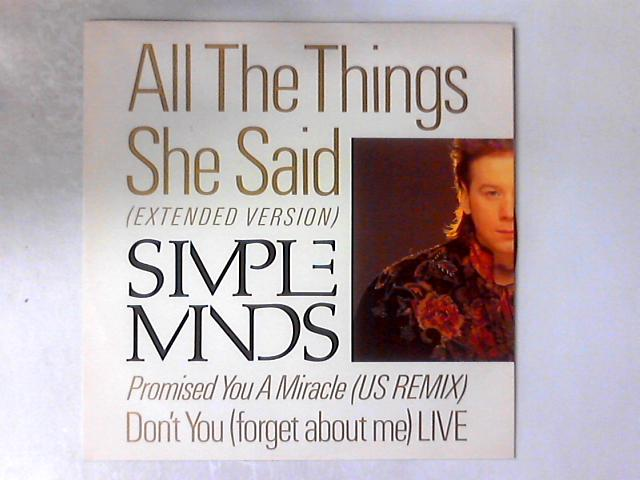 All The Things She Said (Extended Version) 12in By Simple Minds