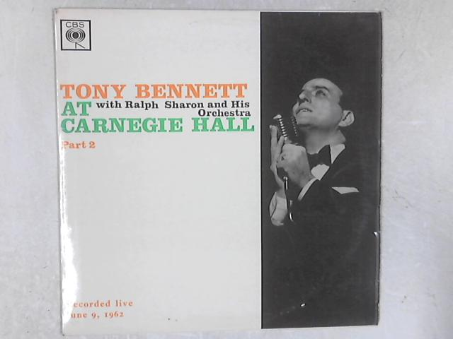 At Carnegie Hall Part 2 LP By Tony Bennett