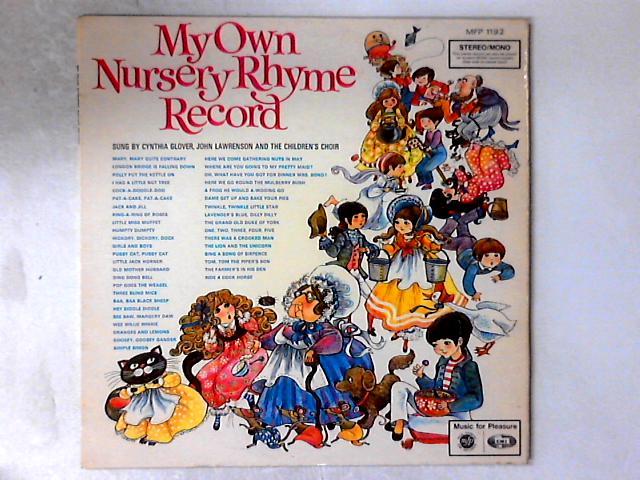 My Own Nursery Rhyme Record LP By Cynthia Glover