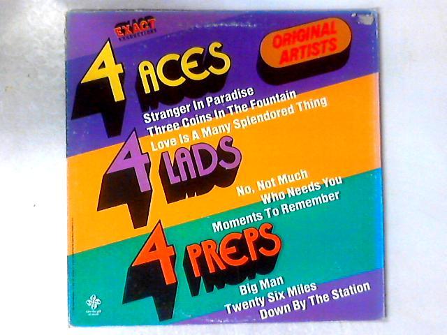 4 Aces -- 4 Lads -- 4 Preps - Original Artists LP COMP By The Four Aces