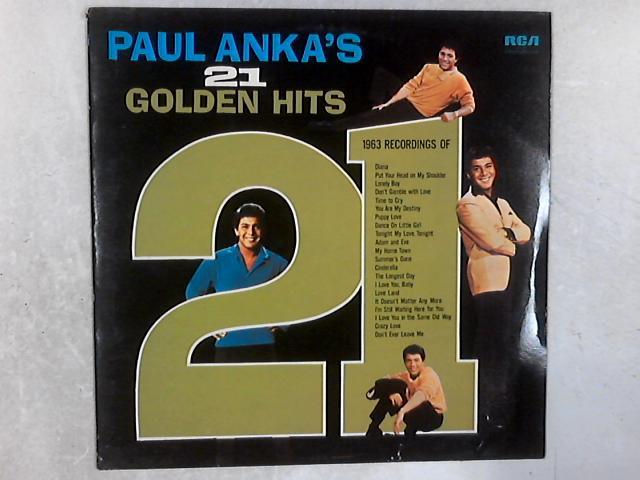 Paul Anka's 21 Golden Hits LP By Paul Anka
