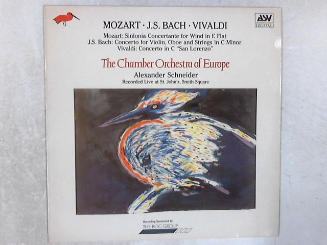 Mozart . J.S.Bach . Vivaldi LP By Chamber Orchestra of Europe