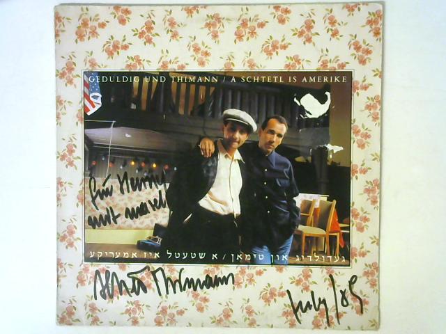 A Schtetl Is Amerike LP Signed By Geduldig Und Thimann