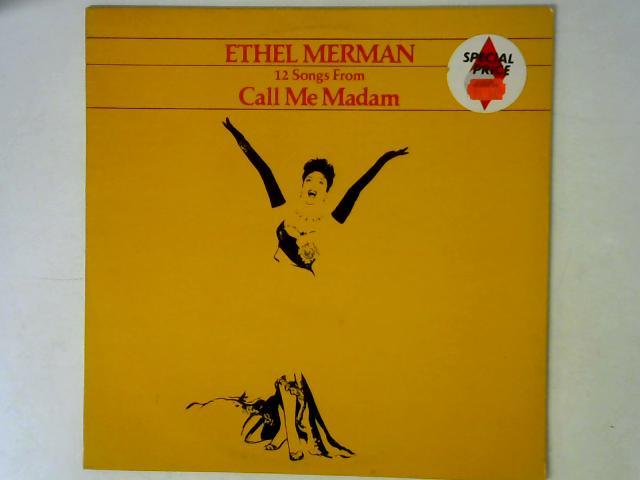 12 Songs From Call Me Madam LP By Ethel Merman