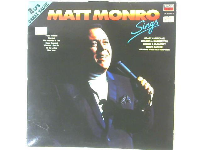 Sings 2x LP By Matt Monro