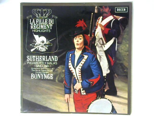 Donizetti: La Fille Du Regiment Highlights LP By Joan Sutherland