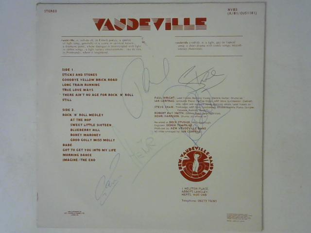 Vaudeville LP Signed By The New Vaudeville Band