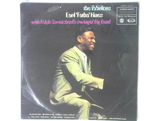 The Fabulous Earl 'Fatha' Hines With Ralph Carmichael's Swingin' Big Band LP By Earl Hines