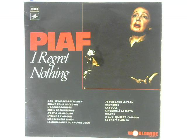 I Regret Nothing LP By Edith Piaf
